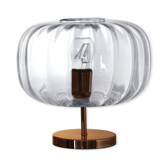 Lampe sur pied en verre transparent 30cm