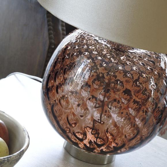 lampe en verre souffl bouche lampe design poser. Black Bedroom Furniture Sets. Home Design Ideas