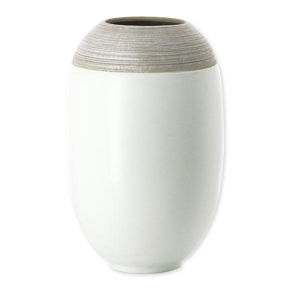 Vase blanc en céramique 27cm