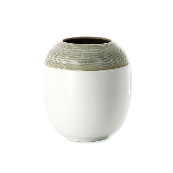 Vase blanc en céramique 17cm
