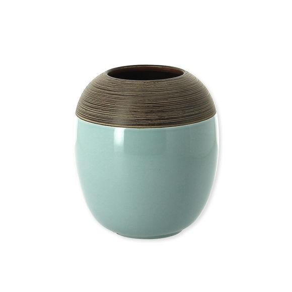 Vase vert sauge en céramique 17cm