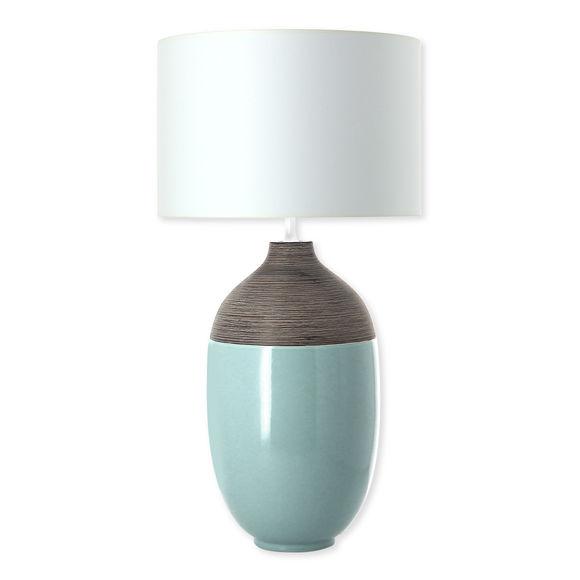 ROBIN lampe turquoise en céramique 74cm