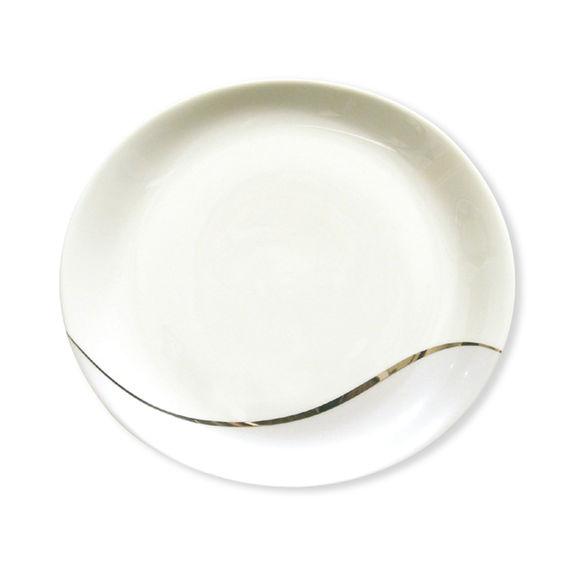Assiette dessert ovale en porcelaine 21cm