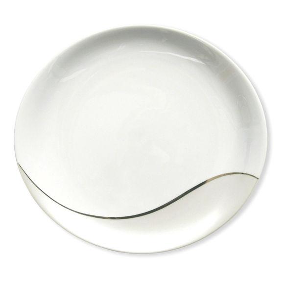Assiette plate ovale en porcelaine 29cm