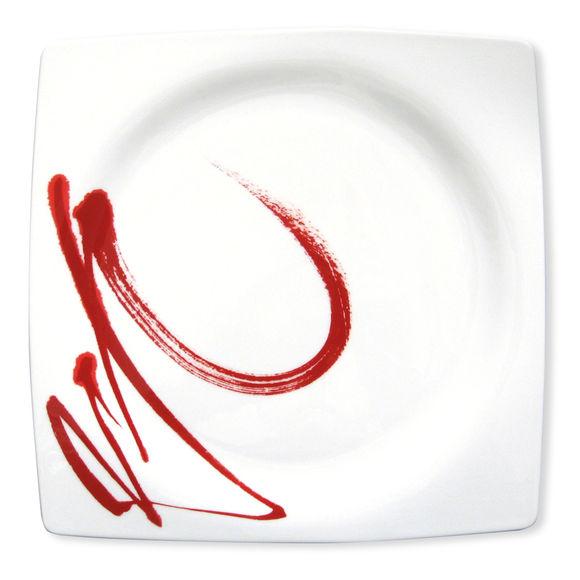 Plat carré plat en porcelaine 32cm