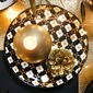 Assiette dessert en porcelaine fleur blanche 18cm