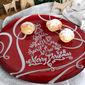 Plat à gâteaux en verre rouge 32cm