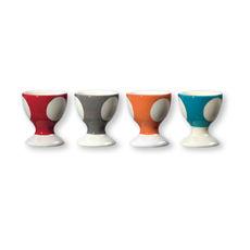 Coquetiers en faïence couleurs assorties 6cm - Coffret de 4