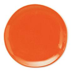 Assiette plate orange en faïence 27cm