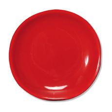 Assiette dessert rouge en faïence 20cm