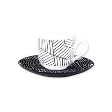 Tasse à café motifs graphiques en porcelaine 10cl