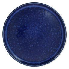Assiette plate bleue en grès 26cm
