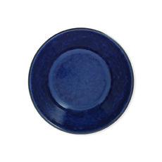 Assiette creuse bleue en grès 16cm