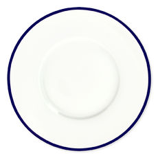 Assiette plate en porcelaine filet bleu 29cm