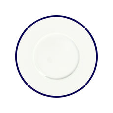 Assiette dessert en porcelaine filet bleu 23cm
