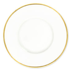 Assiette plate en porcelaine filet or 29cm