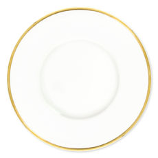 Assiette plate en porcelaine filet or 27cm