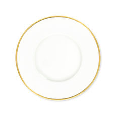 Assiette dessert en porcelaine filet or 23cm