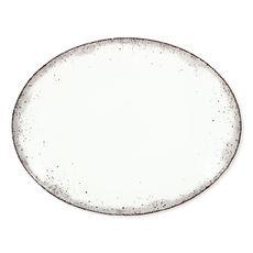 Plat ovale en porcelaine 38x29cm