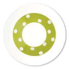 Assiette creuse vert anis en porcelaine 24cm
