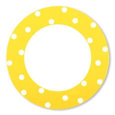 Assiette plate à pois jaune en porcelaine 29cm