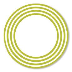 Assiette plate vert anis en porcelaine 29cm