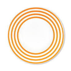 Assiette dessert orange en porcelaine 22cm