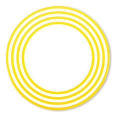 Assiette plate jaune en porcelaine 29cm