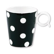 Mug noir en porcelaine 32cl