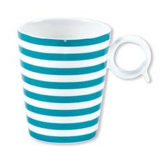 Mug turquoise en porcelaine 32cl