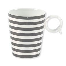 Mug gris en porcelaine 32cl