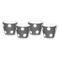 Gobelet expresso gris en porcelaine 10cl