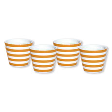 Gobelet expresso orange en porcelaine 10cl