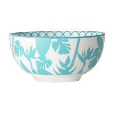 Coupelle en porcelaine décor tropical 15cm