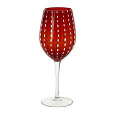 Verre à vin en verre soufflé bouche rouge 40cl