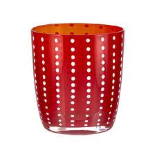 Gobelet bas en verre soufflé bouche rouge 35cl
