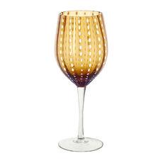 Verre à vin en verre soufflé bouche ambre 40cl