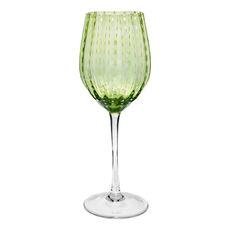 Verre à vin en verre soufflé bouche anis 40cl
