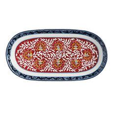 Plat ovale en céramique 33x17cm