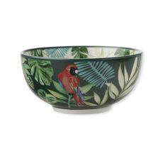 Coupelle en porcelaine décor exotique 12cm