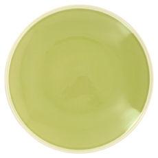 Plat rond vert en grès 30cm