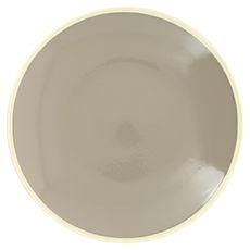 Plat rond gris en grès 30cm