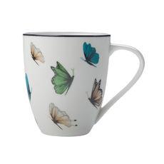Mug en porcelaine décor papillons 50cl
