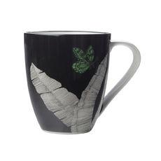 Mug en porcelaine décor noir 50cl