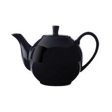 Théière noire en porcelaine filtre inox 1,2L