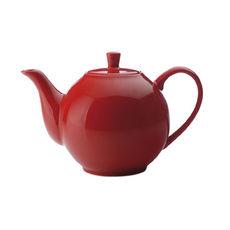 Théière rouge en porcelaine filtre inox 1,2L