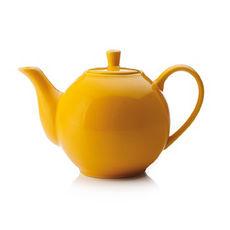 Théière jaune en porcelaine filtre inox 1,2L
