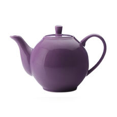 Théière violet en porcelaine filtre inox 1,2L