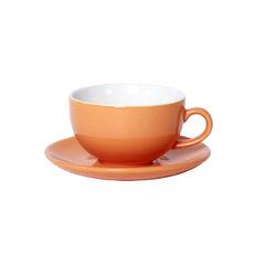 Tasse à déjeuner orange en porcelaine 32cl - Lot de 6