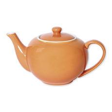 Théière orange en porcelaine 1,1L